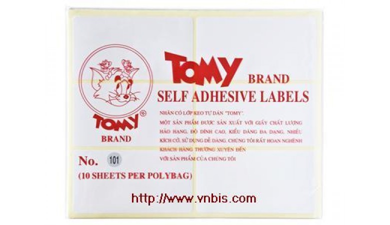 Giấy Decal Tomy 117